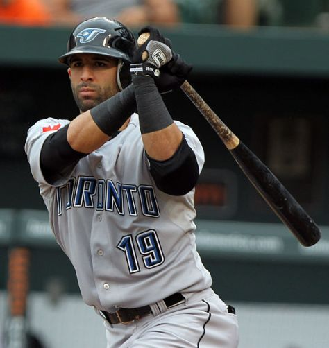 """By Keith Allison on Flickr (Originally posted to Flickr as """"Jose Bautista"""") [CC-BY-SA-2.0 (http://creativecommons.org/licenses/by-sa/2.0)], via Wikimedia Commons"""